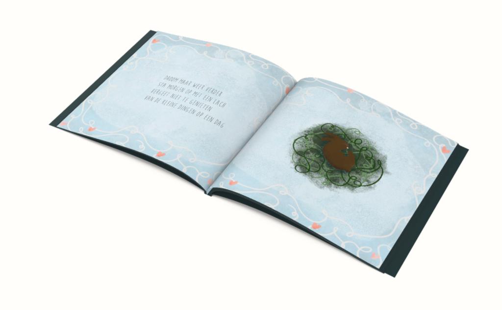 Knuffels gapen dromen slapen illustraties kinderboekje overzicht pagina