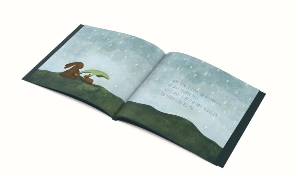 Knuffels gapen dromen slapen illustraties kinderboekje overzicht bladzijde