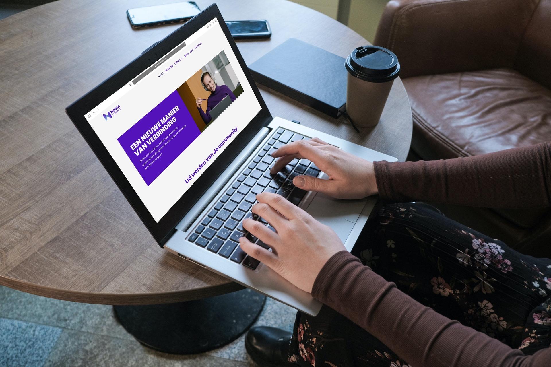 Novia Connect webdesign sanne elisabeth